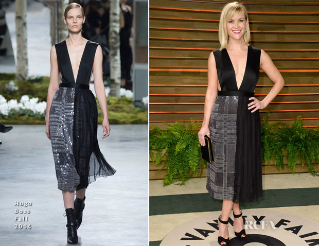 Reese Witherspoon In Hugo Boss - Vanity Fair Oscar Party 2014