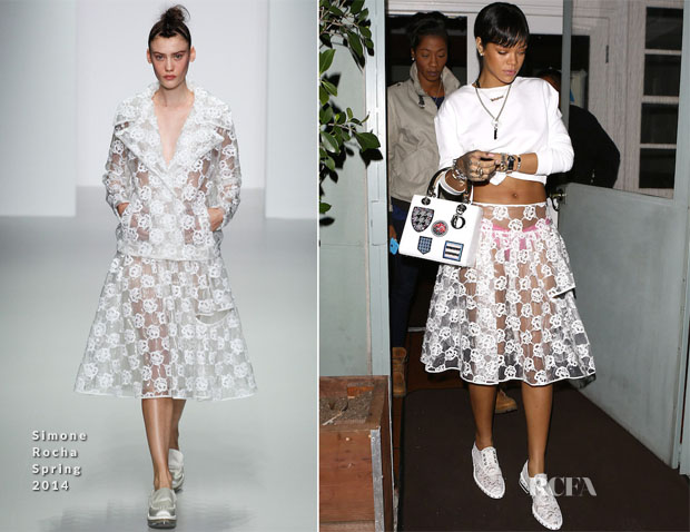 Rihanna In Simone Rocha - Out In Santa Monica