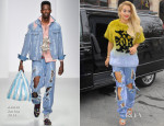 Rita Ora In Just Cavalli & Ashish - Out In London