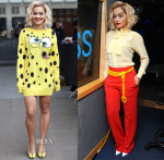 Rita Ora In Moschino - ' I Will Never Let You Down' Single Promotion