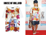 Rita Ora's House of Holland Printed Cotton-Jersey T-Shirt