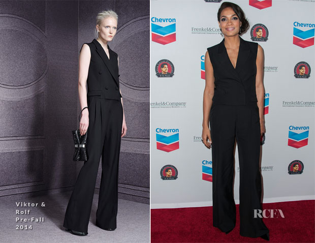 Rosario Dawson In Viktor & Rolf - The Cesar Chavez Foundation's 2014 Legacy Awards Dinner
