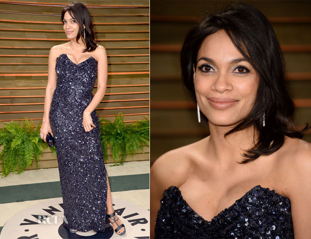 Rosario Dawson In Vivienne Westwood - Vanity Fair Oscar Party 2014