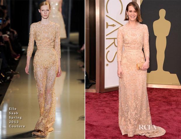 Sarah Paulson  In Elie Saab Couture - Oscars 2014