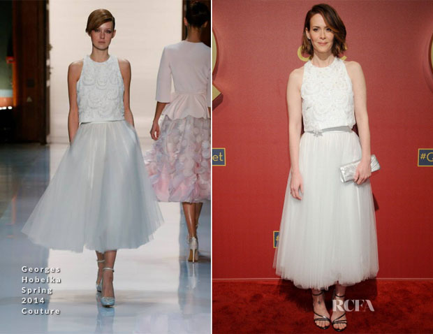 Sarah Paulson In Georges Hobeika Couture - QVC 5th Annual Red Carpet Style Event