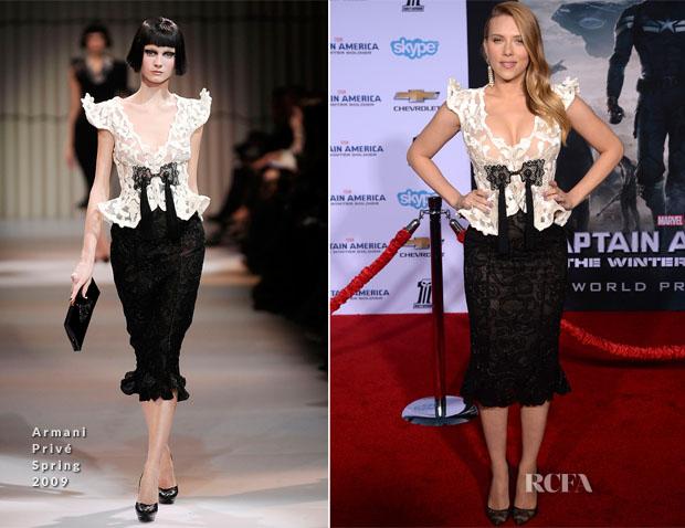 Scarlett Johansson In Armani Privé -  'Captain America The Winter Soldier' LA Premiere