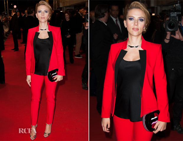 Scarlett Johansson In Michael Kors  -  'Captain America The Winter Soldier' Paris Premiere