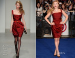 Scarlett Johansson In Vivienne Westwood Red Label - 'Captain America: The Winter Soldier' London Premiere