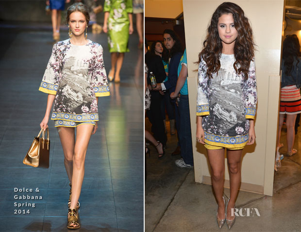 Selena Gomez In Dolce & Gabbana - Nickelodeon Kids' Choice Awards 2014