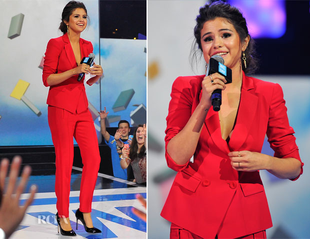 Selena Gomez In Emporio Armani - We Day California