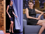 Shailene Woodley In Diane von Furstenberg - The Tonight Show Starring Jimmy Fallon
