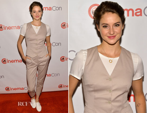 Shailene Woodley In Dolce & Gabbana - CinemaCon 2014 20th Century Fox Special
