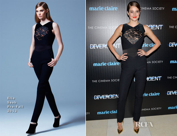 Shailene Woodley In Elie Saab - 'Divergent' New York Screening