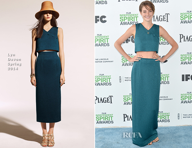 Shailene Woodley In Lyn Devon - Film Independent Spirit Awards 2014