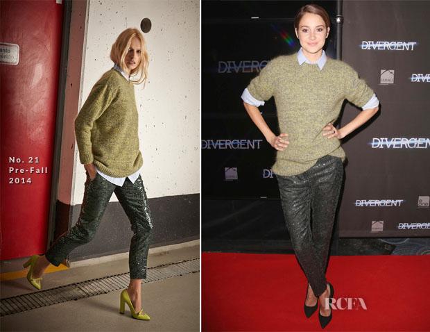 Shailene Woodley In No 21 - 'Divergent' Toronto Premiere