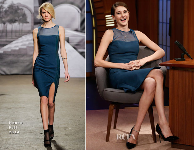 Shailene Woodley In Nonoo - Late Show with Seth Meyers