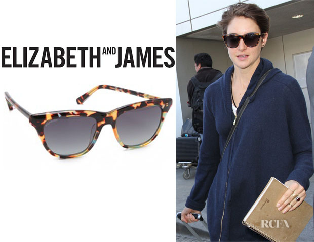 Shailene Woodley's Elizabeth and James 'Talbert' Polarized Sunglasses