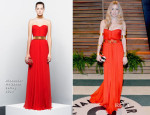 Sienna Miller In Alexander McQueen - Vanity Fair Oscar Party 2014