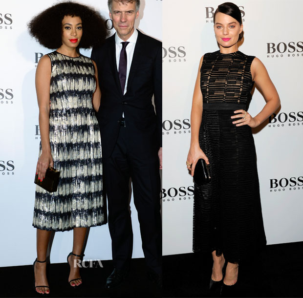 Solange Knowles & Margot Robbie In Hugo Boss - Hugo Boss Hong Kong Grand Opening