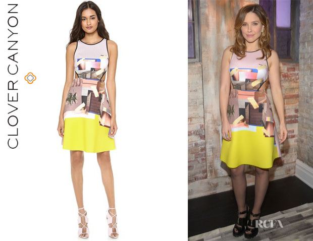 Sophia Bush's Clover Canyon 'New Home' Cutout Dress