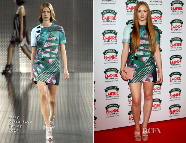 Sophie Turner In Mary Katrantzou - Jameson Empire Awards 2014