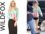 Taylor Swift's Wildfox 'Stars & Stripes' Baggy Beach Sweatshirt