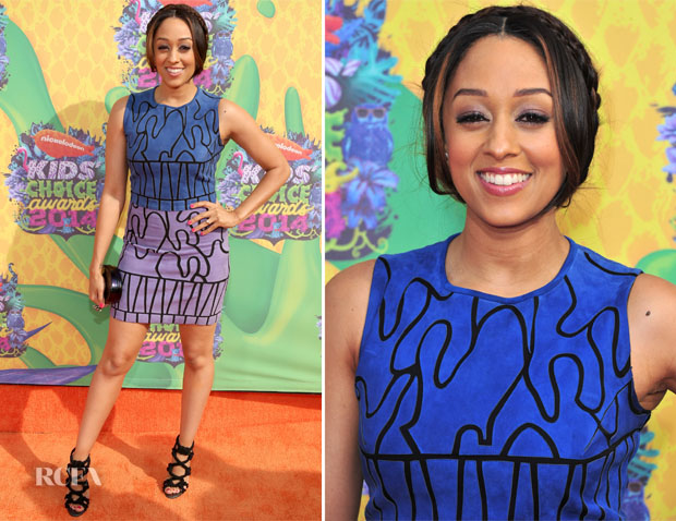 Tia Mowry In Versace - Nickelodeon Kids' Choice Awards 2014