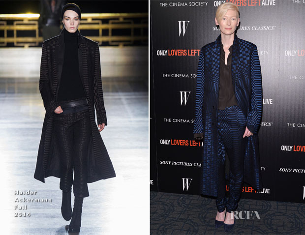 Tilda Swinton In Haider Ackermann Fall 2014 - 'Only Lovers Left Alive' New York Screening