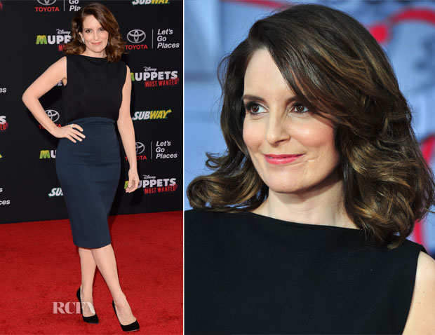 Tina Fey In Antonio Berardi - 'Muppets Most Wanted' LA Premiere