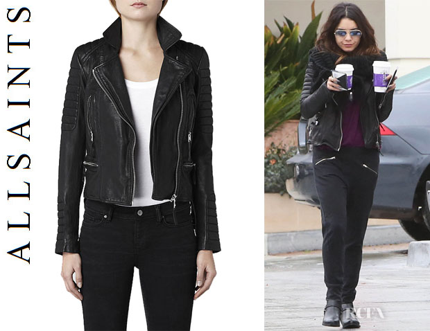 Vanessa Hudgens' All Saints 'Pitch' Leather Biker Jacket