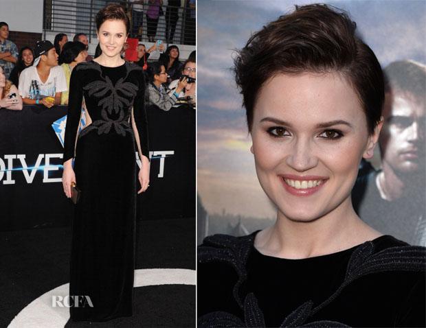 Veronica Roth In Maria Lucia Hohan - 'Divergent' LA Premiere