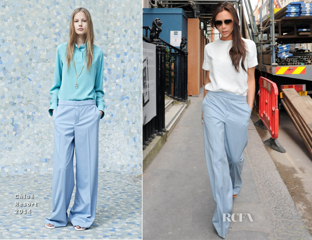 Victoria Beckham In Chloé - Out In London