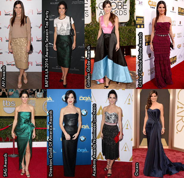 Which Was Your Favourite Sandra Bullock 2014 Awards Season Look