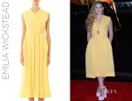 Willow Shields' Emilia Wickstead 'Jully' Textured Sleeveless Dress