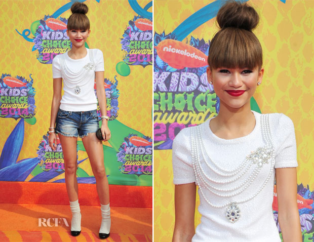 Zendaya Coleman In Oscar de la Renta - Nickelodeon Kids' Choice Awards 2014
