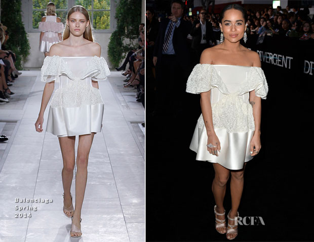 Zoe Kravitz In Balenciaga - 'Divergent' LA Premiere