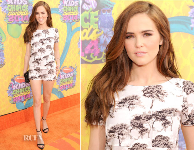 Zoey Deutch In Osman - Nickelodeon Kids' Choice Awards 2014
