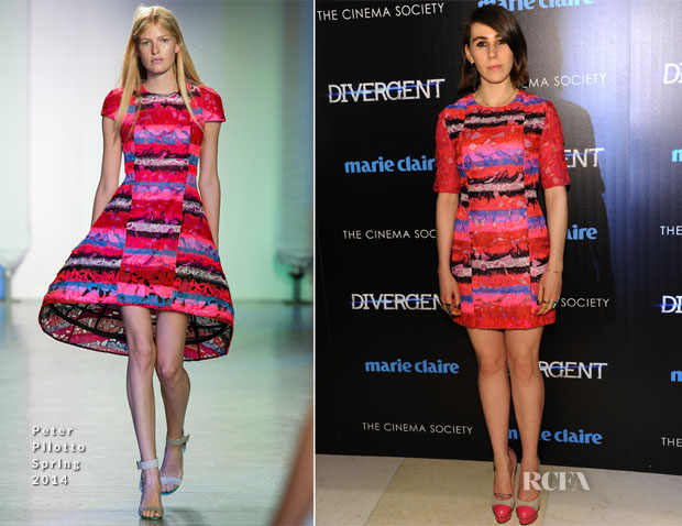 Zosia Mamet In Peter Pilotto - 'Divergent' New York Screening