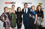 Kiernan Shipka in Nina Ricci, Jessica Pare in Antonio Berardi, Elisabeth Moss in Alexander McQueen, Jon Hamm, January Jones in Roksanda Ilincic and Christina Hendricks in Wes Gordon