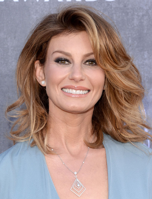 Faith Hill in Saint Laurent