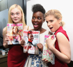 Elle Fanning in Versace , Lupita Nyong'o in Giambattista Valli Couture and Kate Mara in Dior