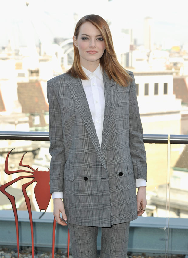 Emma Stone in Saint Laurent
