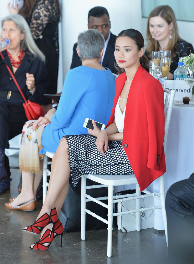 Jamie Chung in Reese + Riley, Cameo The Label and Elizabeth and James