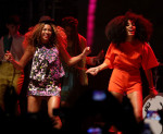 Beyonce Knowles and Solange Knowles in Max Mara