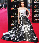 Myleene Klass In Dennis Basso - Laurence Olivier Awards 2014