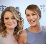 Gillian Jacobs in Tanya Taylor and Leighton Meester in Emporio Armani
