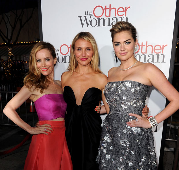 Leslie Mann in Monique Lhuillier , Cameron Diaz in Stella McCartney and Kate Upton in Dolce & Gabbana