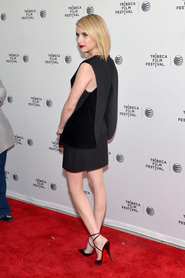 Emma Roberts in Balenciaga