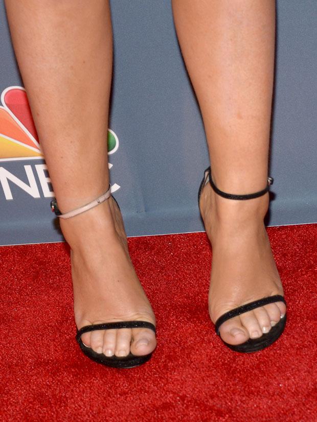 Amy Poehler's Stuart Weitzman sandals