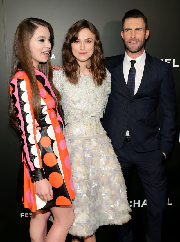 Hailee Steinfeld in Valentino, Keira Knightley in Chanel Couture and Adam Levine